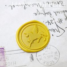 Buy 1 Get 1 Free - 1pcs Pegasus Gold Plated Wax Seal Stamp (WS055) by HappyJewelrySupplies on Etsy https://www.etsy.com/listing/157713962/buy-1-get-1-free-1pcs-pegasus-gold