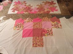 """Heart quilt using the 10"""" twister ruler - Twister Heart Quilt for a little girl named Hope.  By Dawn"""
