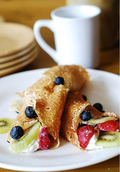This Pin was discovered by The Dessert Lover. Discover (and save!) your own Pins on Pinterest. | See more about dragon fruit, crepe recipes and crepes. #desserts #dessertrecipes #yummy #delicious #food #sweet