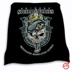 New Army Special Forces Logo Blanket