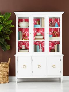 From a for-sale sign to a dining room star, we took this china cabinet to a whole new level #makeover #hgtvmagazine http://www.hgtv.com/design/decorating/furniture-and-accessories/update-a-used-china-cabinet?soc=pinterest