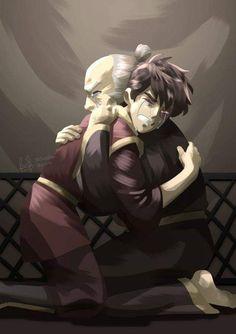 Zuko and Iroh hugs, Fatharani Yasmin Avatar Airbender, Anime, Pictures, Fan Art