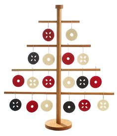 As far as tastefully whimsical Christmas decorations go, it's hard to do better than this graphically arranged, ecologically conscious birch and felt piece by Verso Design.
