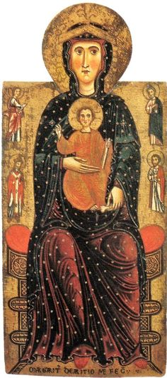 Majestas Mariae (The Most Holy Mother of God in Majesty) by  Margaritone d'Arezzo    circa 1250