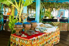 "Jounen Kweyol ""Creole Day"" at the Bay Gardens Beach Resort  Spa in St. Lucia. #StLucia #CreoleFood #Food #JounenKweyol #BayGardensResorts #Culture"