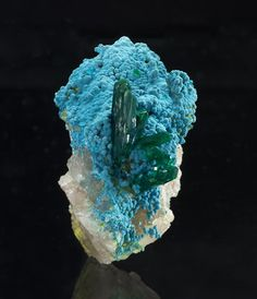 Species: Dioptase, Shattuckite Locality: Kaokoveld Plateau, Kunene Region, Namibia Dimensions: x x cm Silicate Minerals, Dark Blue Green, Malachite, Natural Gemstones, Vibrant, Miniatures, Crystals, Beautiful, Sky