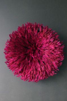 JuJu Hat Feather Wall Hanging - Deep Fuschia