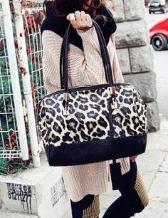 $8.72 New Fashion Arrival Leopard Printing Shoulder Bag