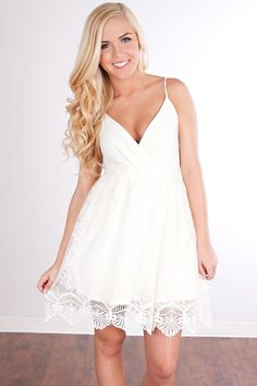 All Of My Love Lace Dress-Ivory