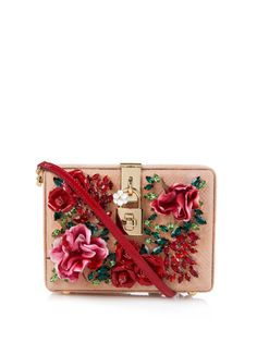 DOLCE & GABBANA Mini Dolce embellished cross-body bag