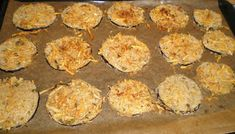 BERENJENAS CRUJIENTES AL HORNO Canapes, Eggplant, Muffin, Food And Drink, Veggies, Cooking Recipes, Snacks, Breakfast, Desserts