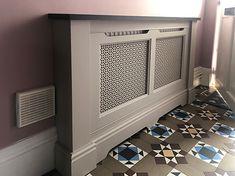 Kensington and Knightsbridge radiator covers Modern Radiator Cover, Home Radiators, Hallway Designs, Hallway Ideas, Kensington, Georgian Interiors, Storage Drawers, Bin Storage, Home Gym Design