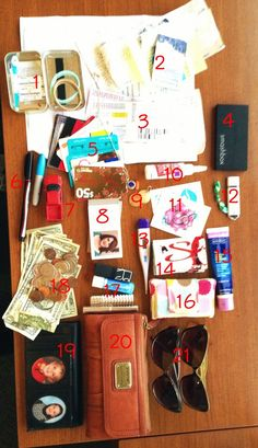 Whats in my purse? A whole lot of stuff I dont really use.