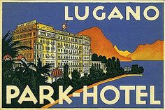 "Wherever you've been… I stumbled across this lovely little collection today, an ""image stream and information resource devoted to the art of luggage labels and related travel ephemera. Vintage Luggage, Vintage Travel Posters, Vintage Postcards, Vintage Ads, Luggage Stickers, Luggage Labels, Tourism Poster, Poster Ads, Gran Tour"