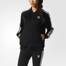 8e53949574bb0 adidas - Jaqueta Supergirl Tt Adidas Preto, Treino Para Mulheres, Moletons,  Jaqueta,