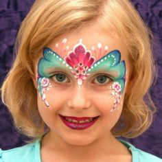 Simple face painting designs are not hard. Many people think that in order to have a great face painting creation, they have to use complex designs, rather then simple face painting designs. Princess Face Painting, Girl Face Painting, Face Painting Tips, Face Painting Designs, Painting For Kids, Paint Designs, Face Paintings, Face Painting Tutorials, The Face