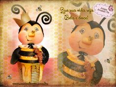 Bichinhos do bem + abelha + Amnada Pin