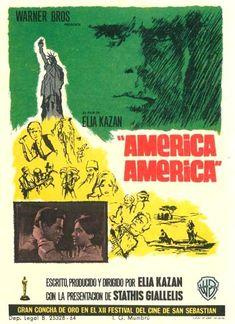 "América, América (1963) ""America America"" de Elia Kazan - tt0056825 Elia Kazan, Art Forms, Cinema, Hollywood, Film, Movie Posters, Movies, Film Festival, Film Posters"