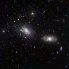 deep-sky-astronomy:  NGC 3169 and NGC 3166