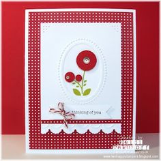 Two Happy Stampers: Red Blossoms
