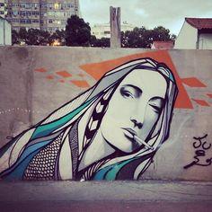 More details of the work, place and artist: http://streetartrio.com.br/artista/beto-fame/compartilhado-por-streetartrio-em-aug-18-2013-1750/ /  #streetartrio #streetphotography #buildinggraffiti #graffitiart #art #streetart #handmade #street #graff  #urban #wallart #spraypaint #aerosol #spray #wall #mural #murals #painting #arte #color #streetartistry #artist #grafiti #urbano #rue #guerillaart