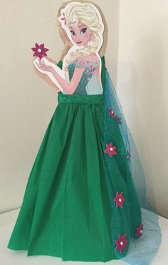 Frozen fever Pinata. Elsa Frozen fever piñata by aldimyshop