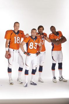 Manning, Welker, Decker & D. Thomas.  GO BRONCOS!!!! Knoxville still loves Peyton!! COLTS ARE A BUNCH  OF TRAITORS!!!