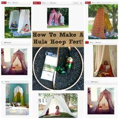DIY Hula Hoop Fort Making