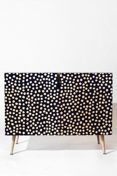Deny Designs Urban Dot Midnight Credenza By Rachael Taylor Hand Painted Furniture, Funky Furniture, Paint Furniture, Upcycled Furniture, Furniture Makeover, Furniture Design, Plywood Furniture, Chair Design, Design Design