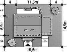 Usytuowanie projektu Florek z garażem 1-st. [A] na działce