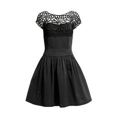 NAOMI FIT AND FLARE DRESS BLACK £195
