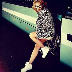 Rita Ora wearing the Spring '13 leopard print  Caddington jacket. #stellamccartney #ritaora #streetstyle #psdept