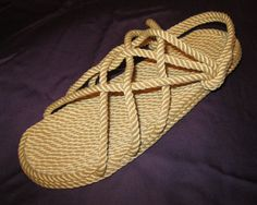 Check out our mens sandals selection for the very best in unique or custom, handmade pieces from our sandals shops. Rope Sandals, Walking Barefoot, Thing 1, Us Man, Brown Beige, Beige Color, Natural Looks, The Originals, Handmade