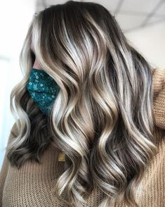 Chunky Blonde Highlights, Ash Brown Hair With Highlights, Brown Hair With Lowlights, Hair Color Highlights, Brown Hair Colors, Dark Ash Brown Hair, Brown Hair With Blonde Balayage, Dark Brown Hair With Blonde Highlights, Hair Highlights And Lowlights
