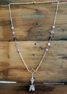 Purple Love Skeleton by aryacreates on Etsy, $30.00