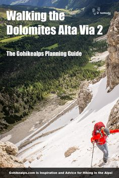 Walking The Dolomites Alta Via 2 is probably one of the best trekking experiences you can ever have. This Guide helps you go do it. Hiking Guide, Northern Italy, Travel Photos, Travel Tips, Alps, The Great Outdoors, Trekking, Adventure Travel, Travel Inspiration