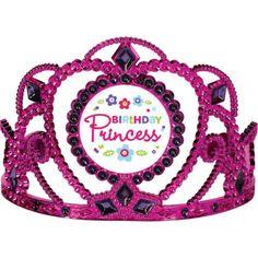 Purple & Teal Pastel Birthday Princess Tiara 3 5/8in - Party City