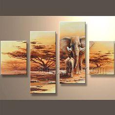 Moderna hechos a mano de áfrica pintura de animales - elefante-imagen-Pintura y Caligrafía-Identificación del producto:754003190-spanish.alibaba.com