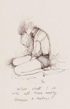 New Drawing Ideas Sad Feelings Illustrations 32 Ideas - Site Today Sad Sketches, Sad Drawings, Pencil Drawings, Illustrations, Illustration Art, Pixiv Fantasia, Art Tumblr, Vent Art, Sad Art