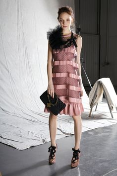 love the dress. not a fan of the styling, though. pre-fall 2012: Moschino