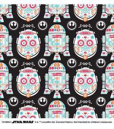 Star Wars™ Character Sugar Skulls Cotton Fabric