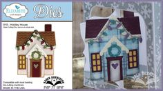 Pop it Ups Holiday House die by Karen Burniston - How to assemble Elizabeth Craft Designs #918 Holiday House die by Karen Burniston
