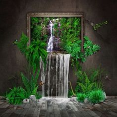 Indoor waterfall... now that's a cool idea