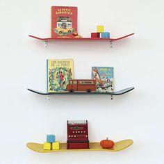 ranger livres enfant etagere skateboard