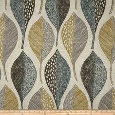 Robert Allen @ Home Woodblock Leaf Rain Home Decor Fabric, Leaf Drapery Fabric Drapery Panels, Drapery Fabric, Wall Fabric, Gray Fabric, Tablecloth Fabric, Chair Fabric, Window Panels, Modern Upholstery Fabric, Furniture Upholstery