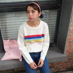 Rainbow Stretch Sweaters