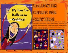 Halloween Fabric for Crafters Halloween Fabric Crafts, Other Accessories, About Me Blog, My Favorite Things