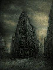 Somewhere in the Old World (blurry version, pseudo-tintype) Yaroslav Gerzhedovich #dark #illustration #artwork