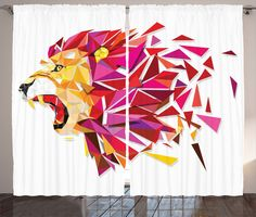 Illustration of Low polygon Llion geometric pattern explode - Vector illustration vector art, clipart and stock vectors. Geometric Art Animal, Geometric Animals, Geometric Drawing, Illustration Art, Geometric Lion, Abstract, Vector Art Illustration, Art Wallpaper, Polygon Art