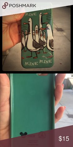 "iPhone 6 case Says ""mine mine mine"" but it could be ""your yours yours"". I got it at Disneyland! There is a little sticker goo on the cover but I will get it off before I send it to you. Promise! Get this now before it's donated. Accessories Phone Cases"